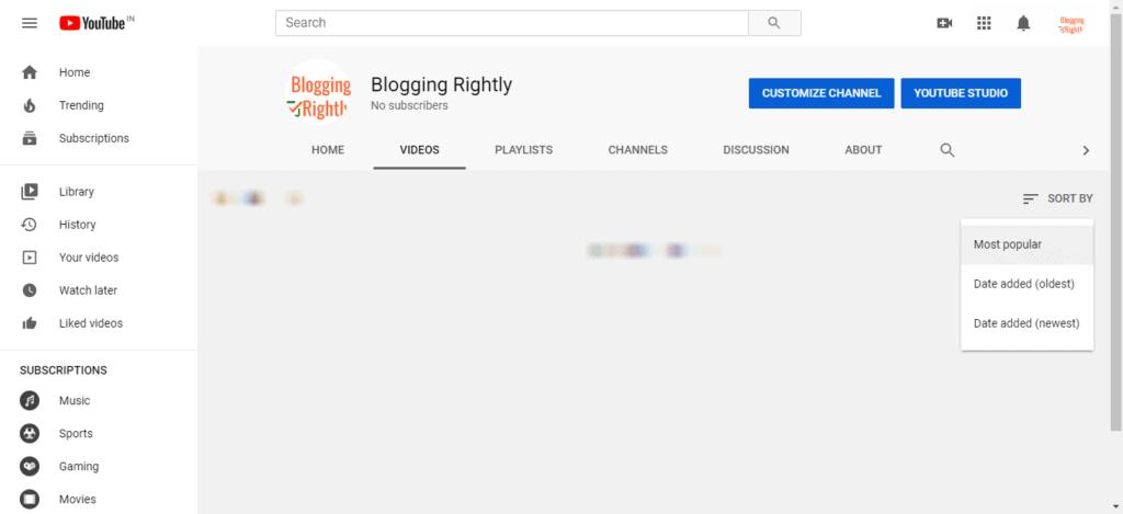 YouTube Popular Videos